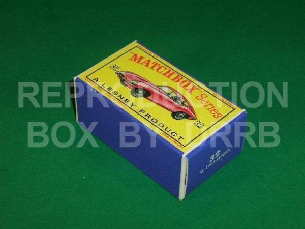 Matchbox 1-75 #32 E-Type Jaguar - Reproduction Box
